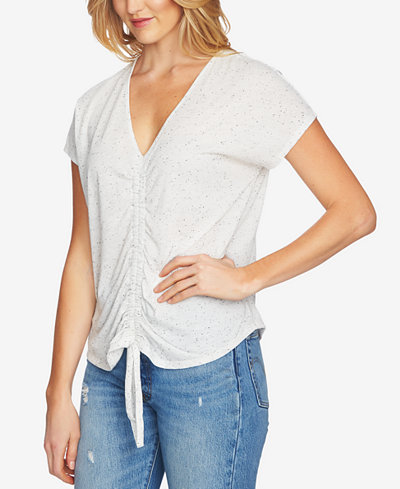 1.STATE Speckled Ruched Top