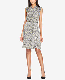 Tahari ASL Ruffled Shirtdress, Regular & Petite
