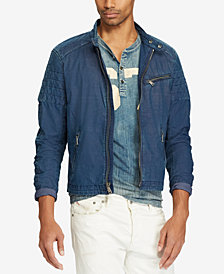 Polo Ralph Lauren Men's Indigo Café Racer Jacket
