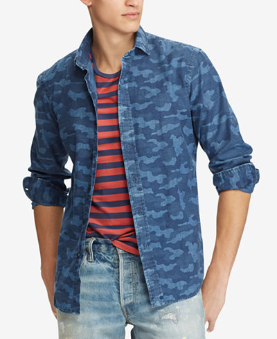214f8c6a Polo Ralph Lauren Men's Classic Fit Chambray Shirt - Casual Button ...