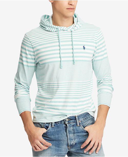 a0c0f5228 Polo Ralph Lauren Men's Striped Hooded T-Shirt & Reviews - T-Shirts ...