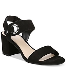 Birdie City Two-Piece Block-Heel Sandals, Created for Macy's