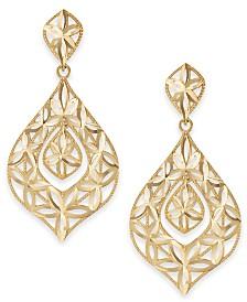 Openwork Dangle Drop Earrings in 14k Gold
