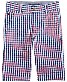 Tommy Hilfiger Gingham Cotton Shorts, Little Boys