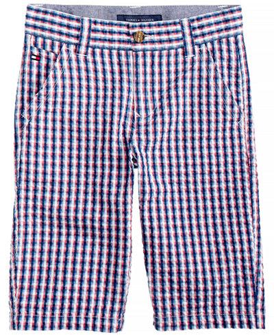 Tommy Hilfiger Gingham Cotton Shorts, Big Boys