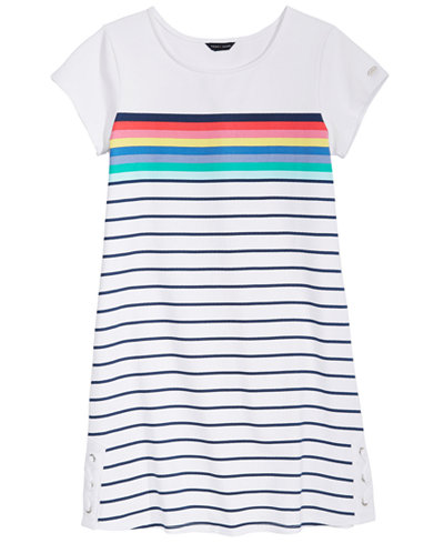Tommy Hilfiger Side Lace-Up Dress, Big Girls