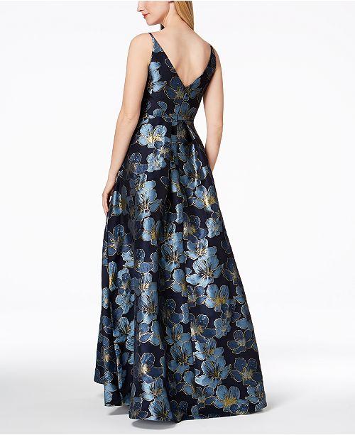c158313da8e1 Calvin Klein Floral-Print Embroidered Ballgown   Reviews - Dresses ...