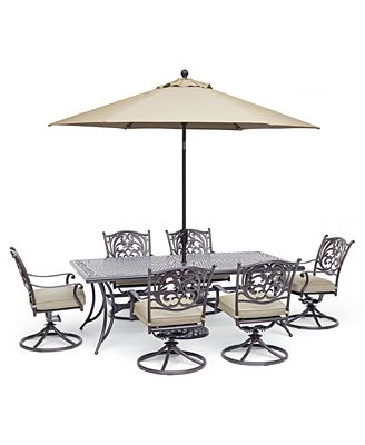 Chateau Outdoor Aluminum 7-Pc. Dining Set (84