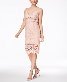Bardot Botanica Lace Cutout Midi Dress