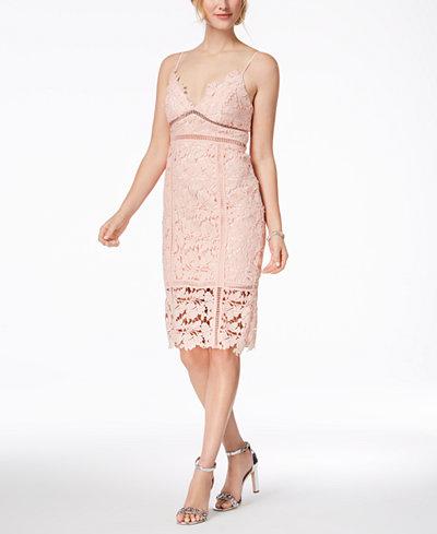 Bardot Botanica Lace Cutout Midi Dress