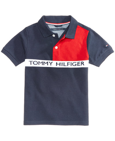 Tommy Hilfiger Colorblocked Polo, Little Boys