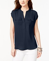 80a19407 I.N.C. International Concepts Mixed-Media Utility Shirt, Created for Macy's