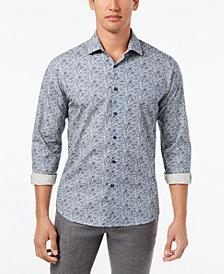 Tallia Men's Slim-Fit Navy Floral-Print Dress Shirt