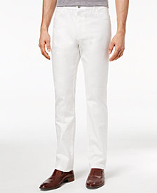 Ryan Seacrest Distinction™ Men's Slim-Fit Stretch White Denim Five Pocket Pants, Created for Macy's