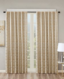 "SunSmart Cassius 50"" x 95"" Marble Jacquard Total Blackout Window Panel"