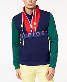 Tommy Hilfiger Men's Newport Colorblocked Logo-Print Sweatshirt, Created for Macy's