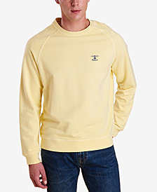 Barbour Men's Pike Garment-Dyed Raglan-Sleeve Fleece Sweater