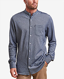 Barbour Men's Scafell Knit Band-Collar Shirt