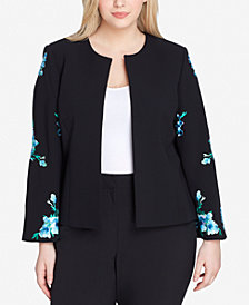 Tahari ASL Plus Size Embroidered Jacket