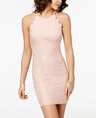 BCX Juniors' Scalloped Lace Dress