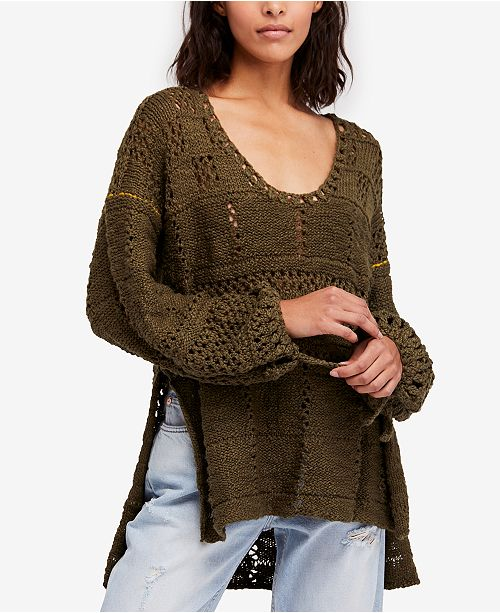 2d8d92f403ed56 ... Free People Flower Child Cotton Mixed-Knit Tunic Sweater - Sweaters ...  great ...