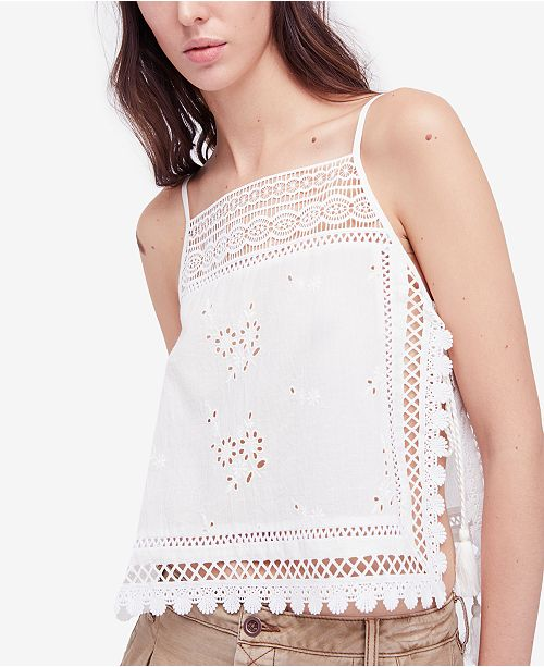 Free People Garden Party Crocheted Tank Top