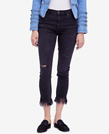 Free People Great Heights Ripped Skinny Jeans