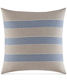 "Nautica Abbot 16"" x 16"" Stripe Applique Decorative Pillow"