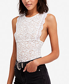 Free People Sheer Lace Tank Top
