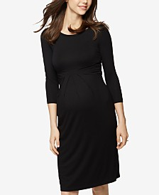 Isabella Oliver Maternity Elbow-Sleeve Dress