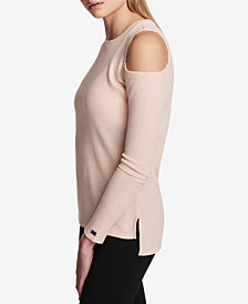 DKNY Sport High-Low Cold-Shoulder Top
