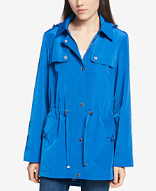 Tommy Hilfiger Water-Resistant Hooded Tab-Sleeve Anorak