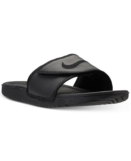 9d79a8569fd6 Nike Men s Kawa Adjustable Slide Sandals from Finish Line   Reviews ...