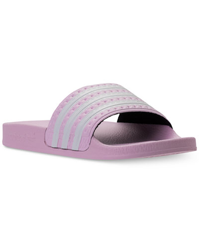 adidas Big Girls Adilette Slide Sandals from Finish Line