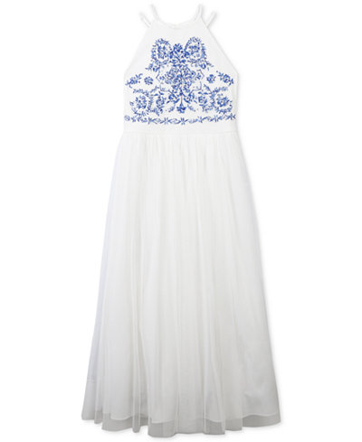 Speechless Embroidered Maxi Dress, Big Girls