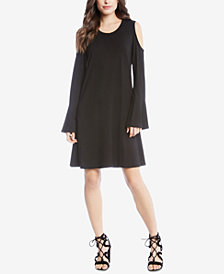 Karen Kane Cold-Shoulder A-Line Dress