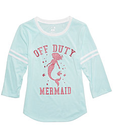 Max & Olivia Mermaid Graphic-Print Pajama Top, Little Girls & Big Girls