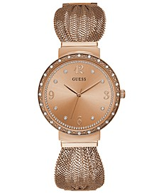 Women's Rose Gold-Tone Stainless Steel Mesh Bracelet Watch 36mm