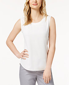 Anne Klein U-Neck Shell