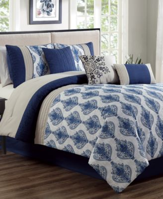 Gloria 7-Pc. King Comforter Set