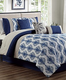 Gloria 7-Pc. California King Comforter Set