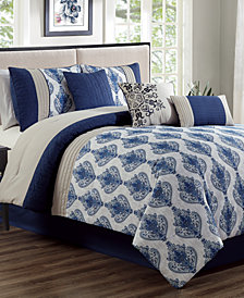 Gloria 7-Pc. Queen Comforter Set