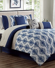 CLOSEOUT! Gloria 7-Pc. Queen Comforter Set