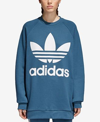 Adidas Adicolor Over Sized Trefoil Sweatshirt Sweaters Women