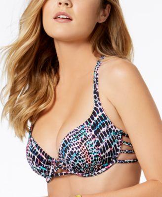 Harper Bra-Sized Underwire Strappy Bikini Top,Created for Macy's