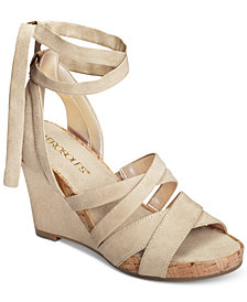 Aerosoles Lilac Plush Wedge Sandals