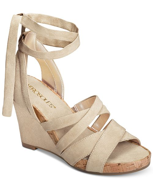 0106a34bc82e Aerosoles Lilac Plush Wedge Sandals   Reviews - Sandals   Flip Flops ...