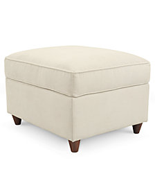 Lidia Fabric Ottoman,  Created for Macy's