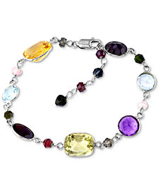 Final Call by EFFY® Multi-Gemstone Link Bracelet (28-3/4 ct. t.w.) in 14k White Gold