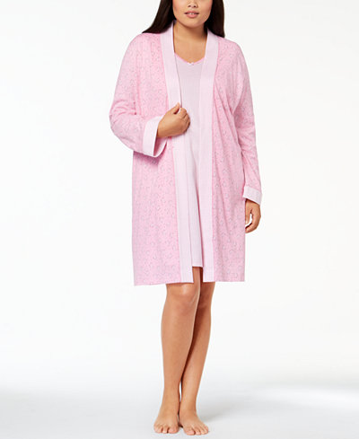 Charter Club Plus Size 2-Piece Robe Set, Created for Macy's